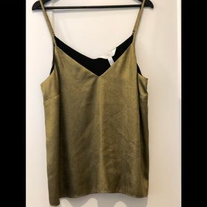Additionelle gold metallic tank camisole